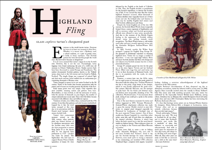 Glass Magazine Winter 2012/13   'Highland Fling'
