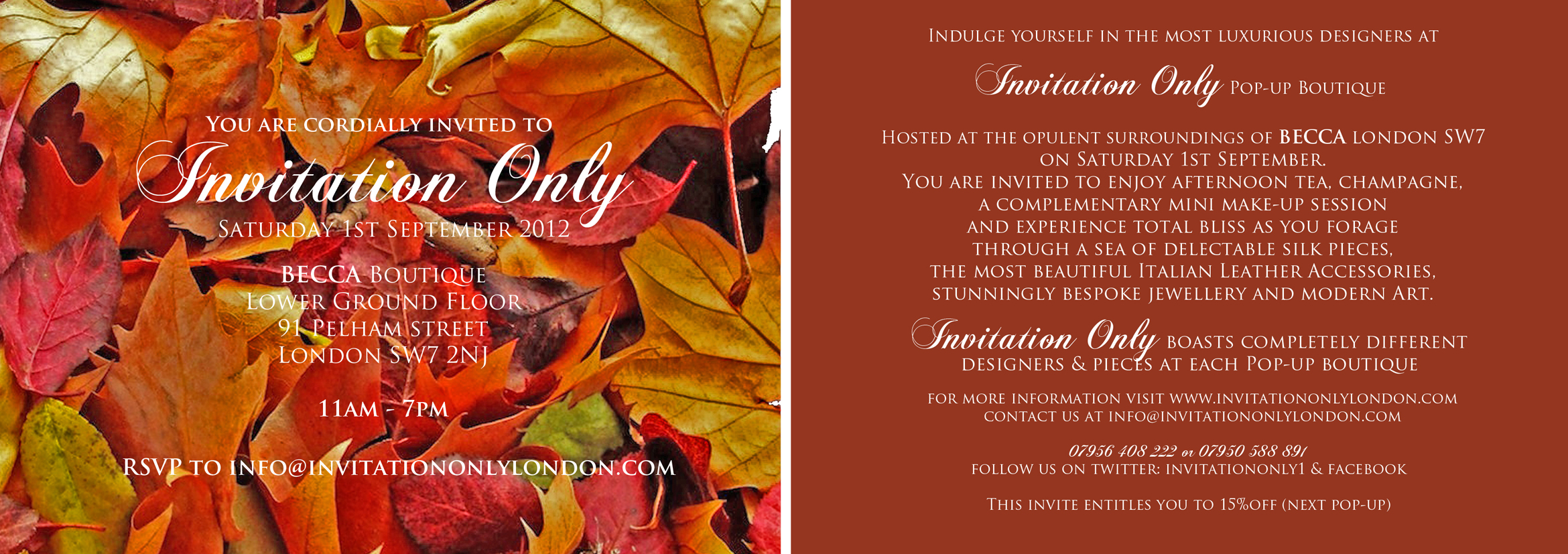 September S Invitation Only Event The London Lassie