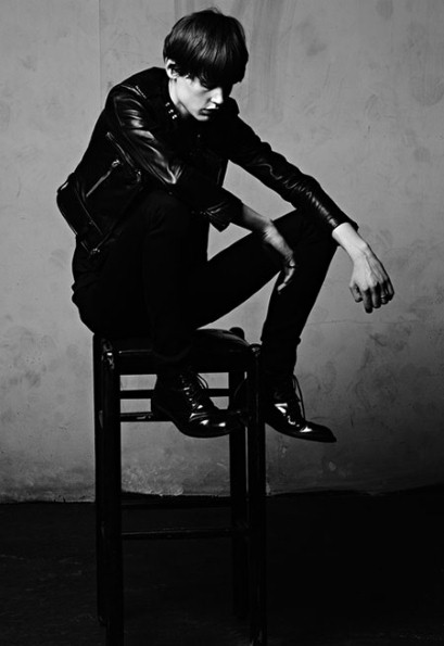 Female model Saskia De Brauw in the Saint Laurent menswear campaign