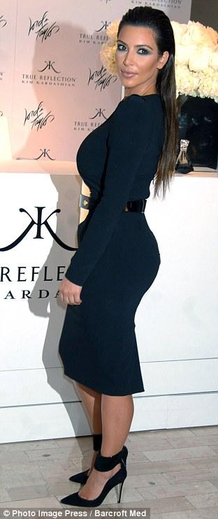 Kim Kardashian rocking the slicked back look