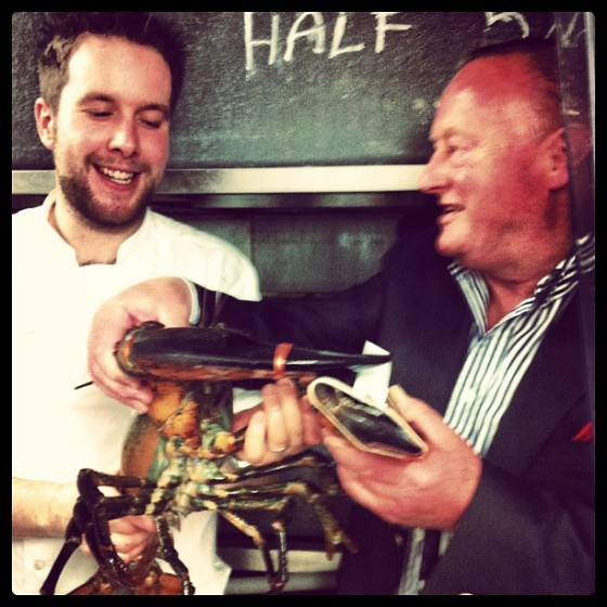 "Dad, the head chef and ""Pinchy"""