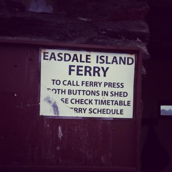 To get to Easdale island you ring a bell and a little boat comes to collect you!