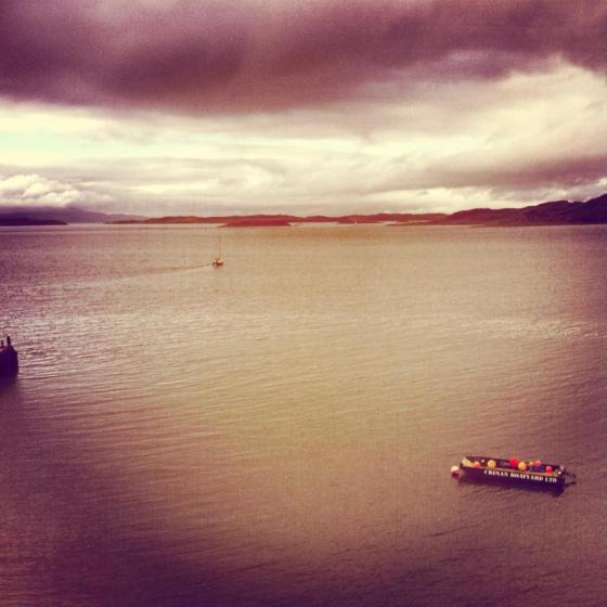 The view from the Crinan Hotel